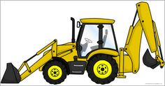 Giant digger picture for display (SB10689) - SparkleBox