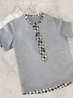T-shirt Dégourdi 2 au 10 ans - Her little world Baby Boy Dress, Cute Baby Boy Outfits, Kids Outfits, Stylish Boy Clothes, Boys Clothes Style, African Attire For Men, Boys Kurta, Kids Dress Patterns, Baby Dress Design