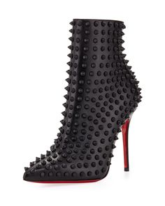 68426d52ffcb0d Christian Louboutin Snakilta Spiked Red Sole Ankle Boot