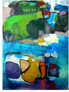 The little GALLERY of fine ARTS; Reflections from the Land by Paula McNeill  #abstract #landscape #fineart #nzartist