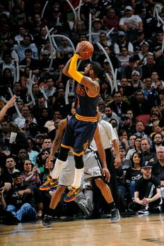 Kyrie Irving game-winner against San Antonio Spurs.  Finished with career-high 57 points.