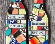 Custom Mosaics by PeaceByPieceCo on Etsy Peace By Piece, Mosaic Bottles, Mosaics, Etsy Seller, Creative, Fun, Mosaic, Hilarious