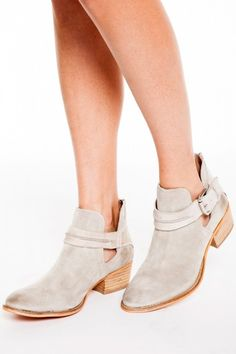 Rebels Cara Ankle Bootie in Ice Stone - Leather Bootie - Buckle Bootie - $138.00 | HER. Boutique