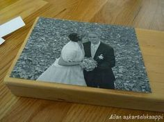 Kuvan siirto puulle Diy Crafts For School, Diy And Crafts, Photo Transfer, Diy Projects To Try, Hobbies And Crafts, Recycling, Woodworking, Frame, Gifts