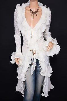 Fabulous Ruffles Collared Knit Cardigan Long Sweater Jacket