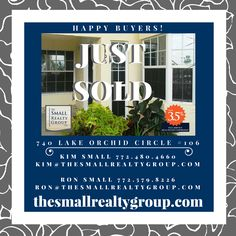 Closing day for our Buyer!  Are you ready to begin your new home search?  Call Kim Small at 772.480.4660 today to get started!  thesmallrealtygroup.com  #justsold #happybuyer #closingday #thesmallrealtygroup #VeroBeach #VeroBeachRealtor #tsrg #Florida #liveinparadise #beach Kim And Ron, Indian River County, Vero Beach Fl, Treasure Coast, Coastal Living, Orchids, New Homes, Florida, Real Estate