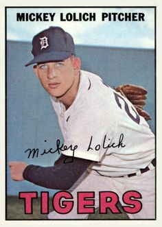 1967 Topps Mickey Lolich....................................Please save this pin... ........................................................... Visit!.. http://www.ebay.com/usr/prestige_online