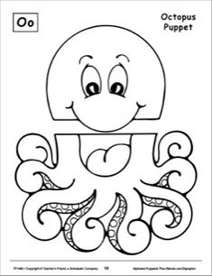 The Letter O: Octopus Alphabet Puppet