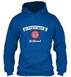 Firefighter's Girlfriend Royal T-Shirt Front
