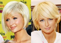 I would also go for the haircut on the right. (ps I realize it's Paris Hilton.)