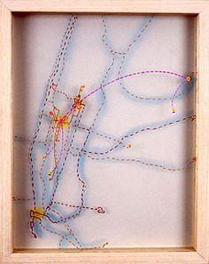 Karin Schaefer Cornelia, 2004 paint marker on glass, pastel on vellum 14 x 11