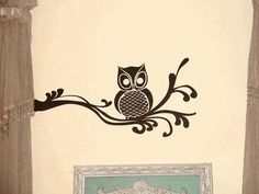 Owl on Fancy Branch Vinyl Wall Decal-Decal Color-Dark Chocolate-Size-Medium by Leen the Graphics Queen. $17.50. This is a wonderful decal. It's an owl on a flowing branch. Perfect way to add a personal touch to your home. Available in two sizes 10 inches tall x 22 inches wide and 22 inches tall x 48 inches wide.