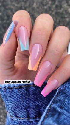 Acrylic Nails Coffin Short, Best Acrylic Nails, Classy Acrylic Nails, Summer Acrylic Nails, May Nails, Dope Nails, Spring Nails, Summer Nails, Acylic Nails