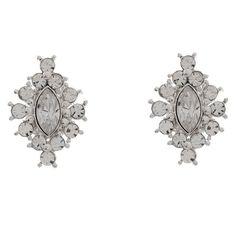 Modern Clear Crystal Bridal Earrings