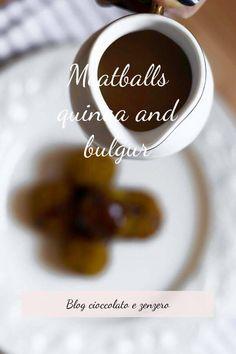 Polpettine di bulgur di quinoa con salsa di cocco e caramello di soia