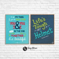 Both the Boy Meets World digitally handlettered quote printables that you can print in your own home or at a local print shop.