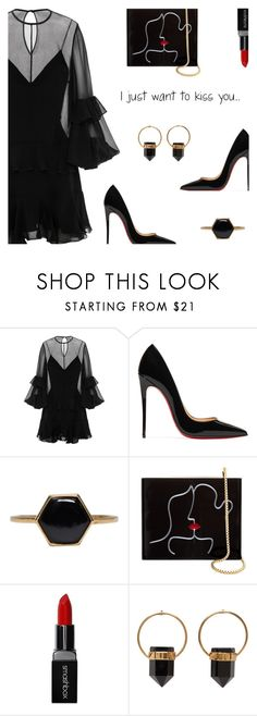 """Kiss me.."" by rasa-j ❤ liked on Polyvore featuring Alex Perry, Christian Louboutin, Isabel Marant, Lulu Guinness, Smashbox and womensFashion"