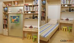 Great kid's bed, especially for a small house.