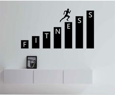 Fitness Gym Wall Decal Vinyl Sticker Art Decor Bedroom Design Mural interior design healthy lifestyle health running run by StateOfTheWall on Etsy https://www.etsy.com/listing/223237453/fitness-gym-wall-decal-vinyl-sticker-art