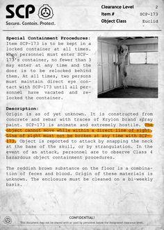 SCP-173 Document