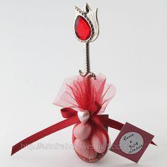 Kırmızı İşlemeli Hürrem Kaşığı Nikah Şekeri (ID#817239): satış, İstanbul'daki fiyat