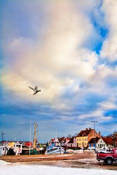 the coastal town of simrishamn, south of sweden