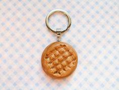 Peanut Butter Cookie Keychain, Cute Keychain, Food Keychain, Polymer Clay, Cute, Fun Keychain