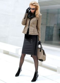 Winter fashion: Madeleine Fall 2014 New Arrivals Mode Outfits, Casual Outfits, Fashion Outfits, Womens Fashion, Fashion Trends, Fashion Tights, Trending Fashion, Fashion Design, Business Outfit