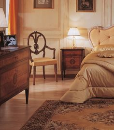 Giuseppe Maggiolini, italian furniture cabinetmaker and inlayer. A luxury classic bedroom by Vimercati Meda