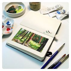 :Illustration:Gallery:Concept: by JAW Cooper: Doodles and Plein Air and Gold Leaf- OH MY!