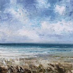 La Mer (After Courbet) Gustave Courbet, Canvas Board, Oil On Canvas, Waves, Paintings, Sky, Outdoor, Heaven, Outdoors