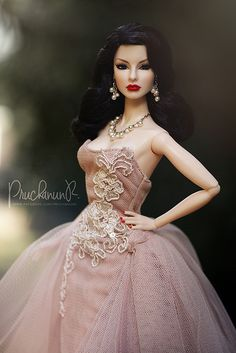 Fashion Royalty Dolls, Fashion Dolls, Fashion Outfits, Barbie Gowns, Barbie Clothes, Doll Dresses, Mauve, Bad Barbie, Fashion Design Portfolio