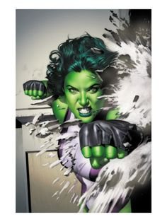She-Hulk (Jennifer Walters) is a fictional character, a superheroine in the Marvel Comics universe. Created by Stan Lee and John Buscema, she first appeared in Savage She-Hulk in Comic Book Characters, Comic Book Heroes, Marvel Characters, Comic Character, Comic Books Art, Comic Art, Marvel Vs, Marvel Dc Comics, Marvel Heroes