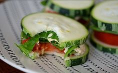 Cucumber Sandwiches, tomatoes, lettuce, tuna salad spread or chicken salad spread
