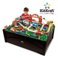 Look at this #zulilyfind! KidKraft 100-Piece Honey Metropolis Train ...