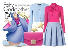 """Fairy Godmother"" by leslieakay ❤ liked on Polyvore featuring Roberto Collina, CO, Furla, Miss Selfridge, Bloomingdale's, Bling Jewelry, disney, disneybound and disneycharacter"