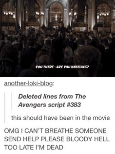 No way that was actually in the script, was it? It may have been...