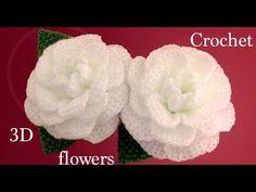 En este vídeo les enseño como hacer flores Camelias 3D con hojas a Crochet, estas flores tejidas a gancho las podemos tejer para hacer centros de mesa en 3D,...
