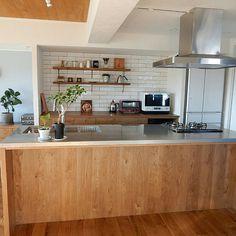 Kitchen/キッチン棚/サブウェイタイル/リノベーション/アイランドキッチン/NO GREEN NO LIFE...などのインテリア実例 - 2017-10-27 07:07:09 | RoomClip (ルームクリップ)