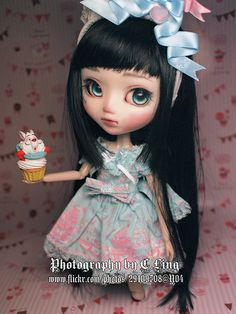 This darling girl is a custom Pullip Snow White