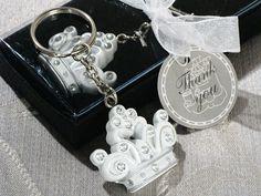 Queen For A Day Sparkling Tiara Keychain Favor  | hotref.com