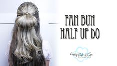 THREE EASY HALF UP HAIRSTYLES! Fast Hairstyles, Summer Hairstyles, Girl Hairstyles, Fan Bun, Medium Hair Styles, Short Hair Styles, Half Up, Up Styles, Ponytail