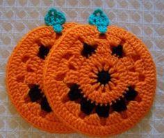Crochet Fruit, Crochet Pumpkin, Crochet Fall, Holiday Crochet, Free Crochet, Crochet Bunny, Crochet Potholder Patterns, Crochet Dishcloths, Knitting Patterns