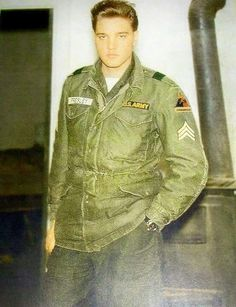 Sergeant Elvis Presley  - February/March 1960  - Elvis Got His Last Promotion To Sergeant On February 11, 1960, Just Three Weeks Before He Received His Discharge From The Army.  - TCB⚡with TLC⚡