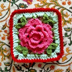 Pretty rose granny square