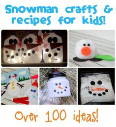 Snowman Crafts & Recipes - Fun Family Crafts