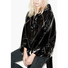 New Autumn Fashion street BF style women's basic coats black jacket Individuality lacquer hooded bomber jacket chaquetas mujer Hooded Bomber Jacket, Rain Jacket, Black Skinny Pants, Striped Jacket, Jacket Style, Outerwear Jackets, Jackets For Women, Leather Jacket, Clothes
