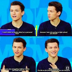 If I went to a high school and either Tom Holland or Peter Parker was there, I would say yes to him without question! Funny Marvel Memes, Marvel Jokes, Dc Memes, Funny Memes, Hilarious, Meme Meme, Marvel Avengers, Shane Mendes, Tom Holland Peter Parker