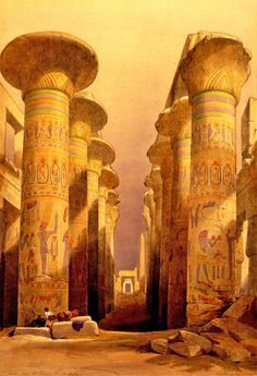 Karnak original painting by David Roberts
