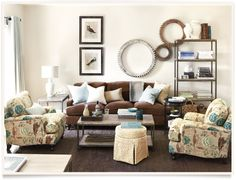 [get the look: durham living room]  I ballarddesigns.com (couch/chairs)